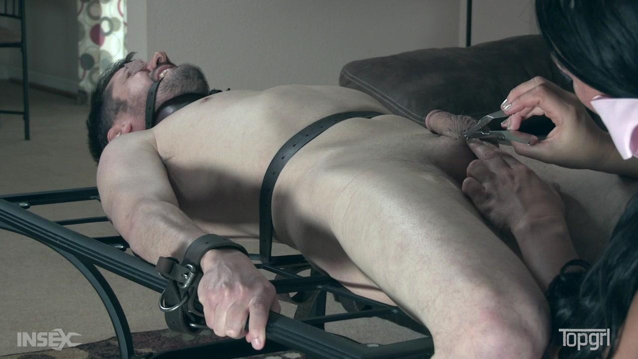 Extreme brutal cock torture