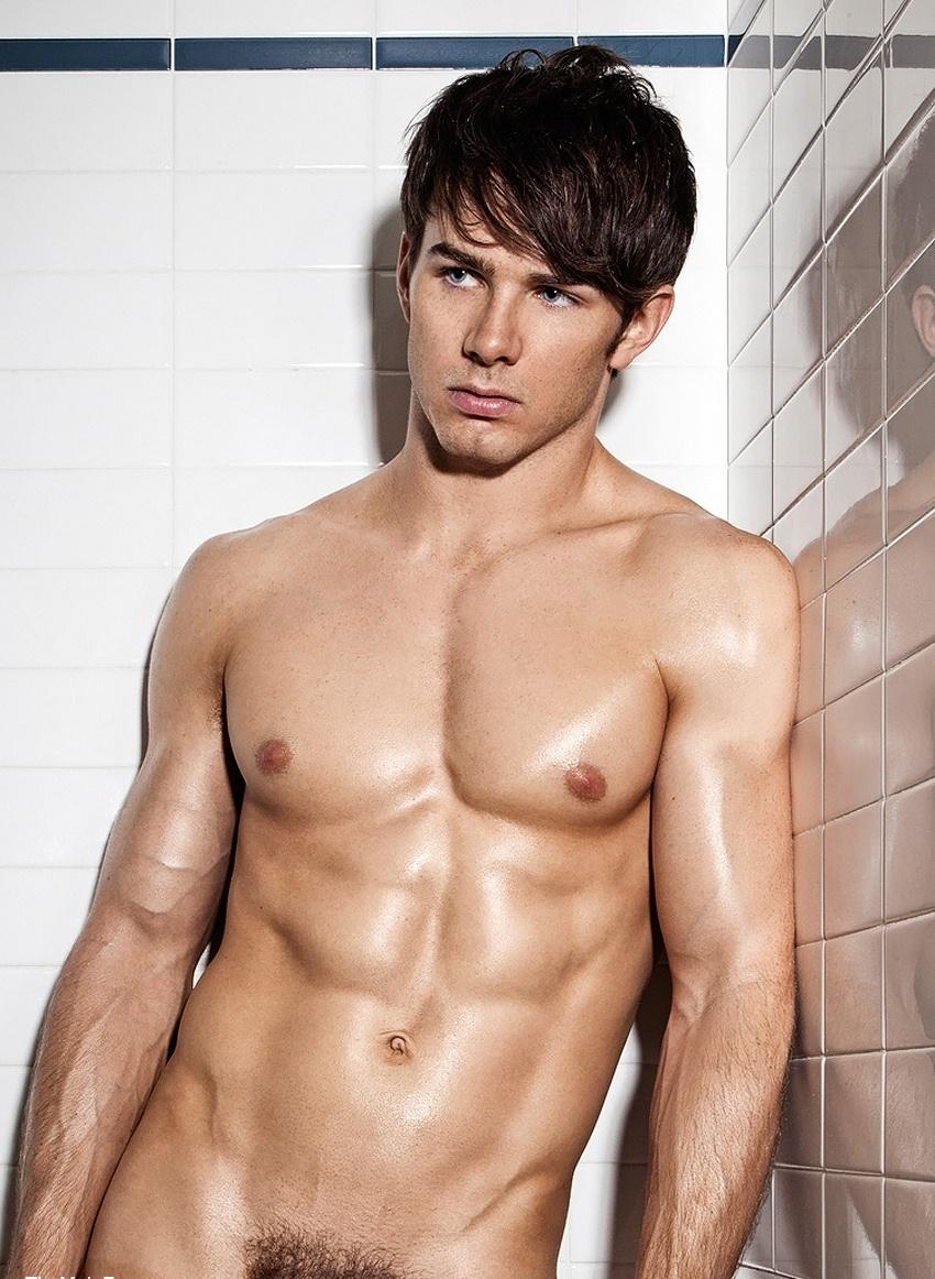 Hot naked men in shower