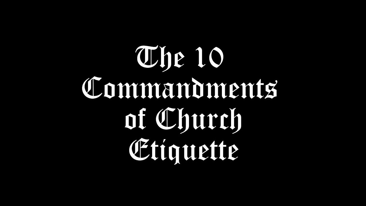 Adult choir church decorum