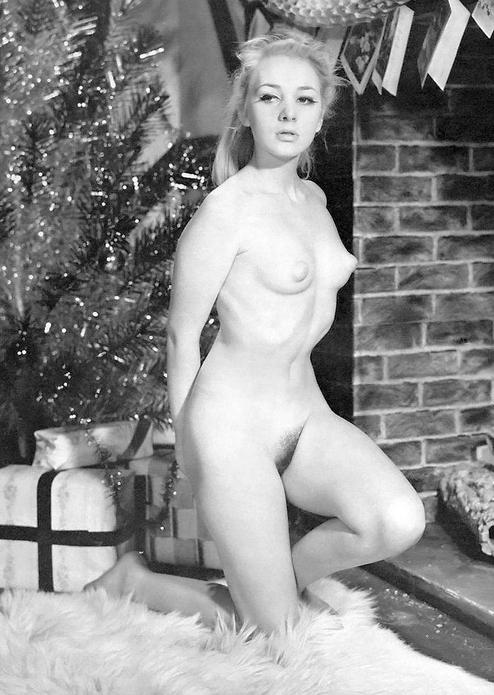 Vintage nude christmas girls