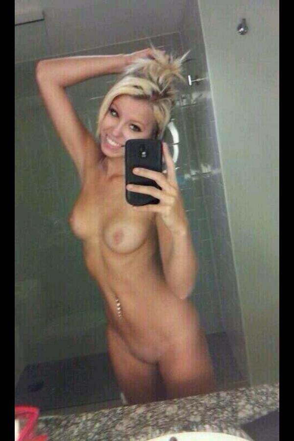 Naked blonde selfie nude