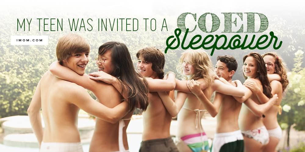Girls sleepover friends naked