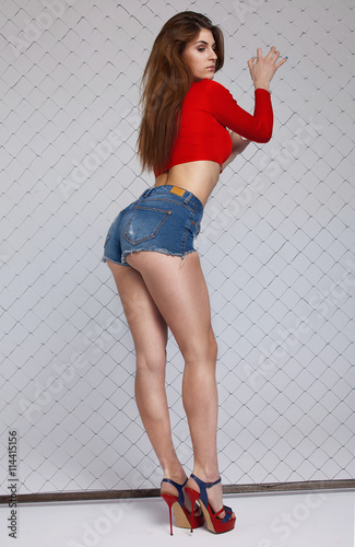 Sexy women in heels and shorts