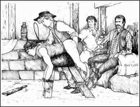 Drawings of cock spanking