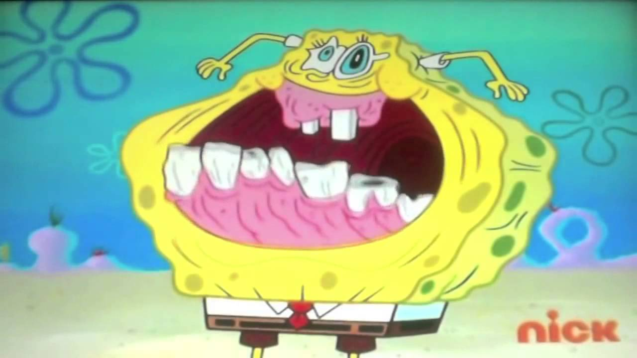 Spongebob squarepants face freeze