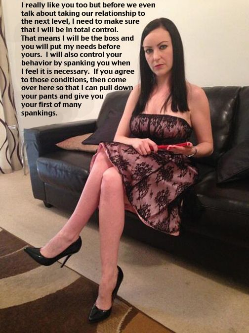 Dominant woman spanking