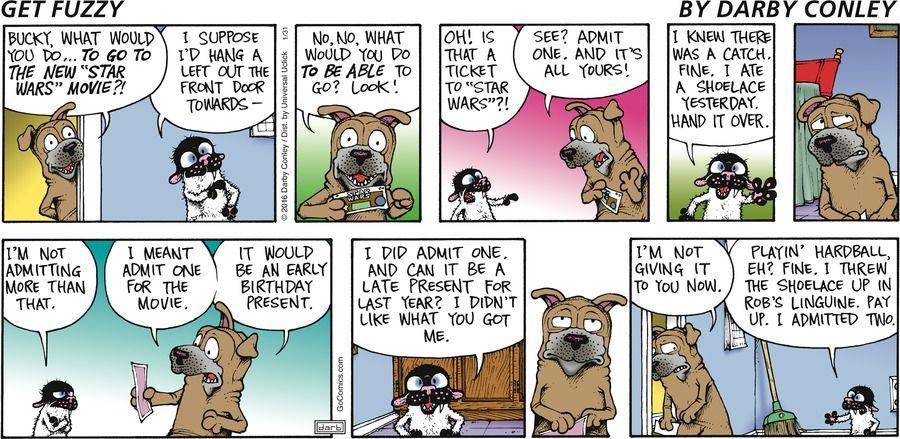 Comic fuzzy get strip