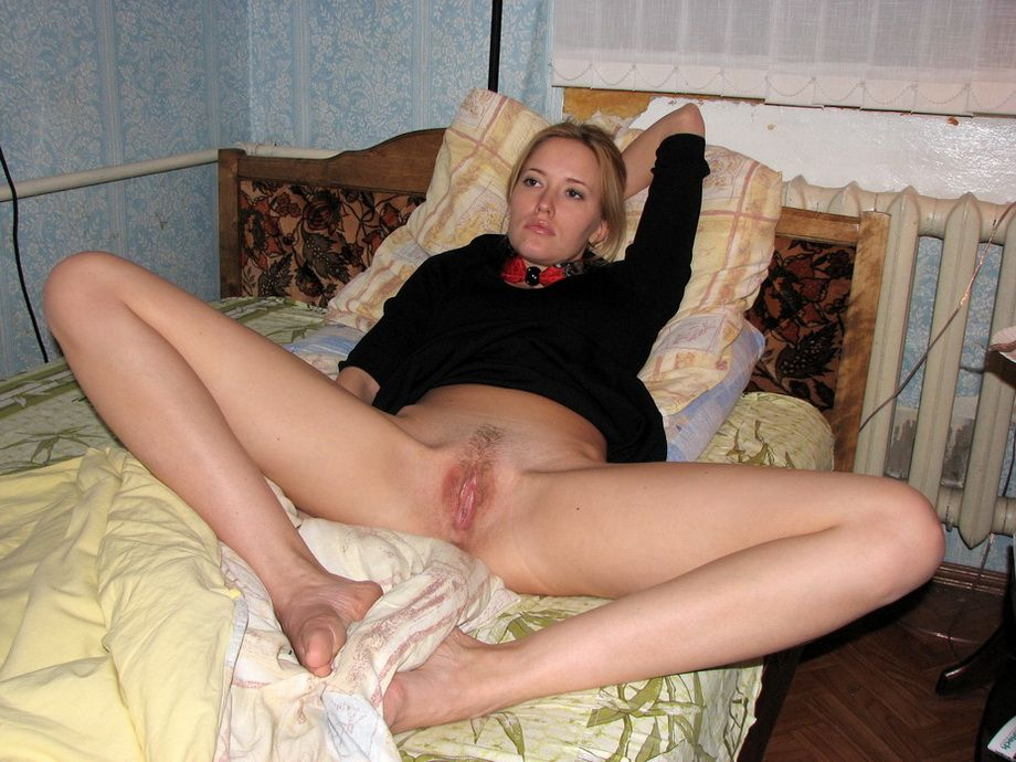 Nude girl legs spread open