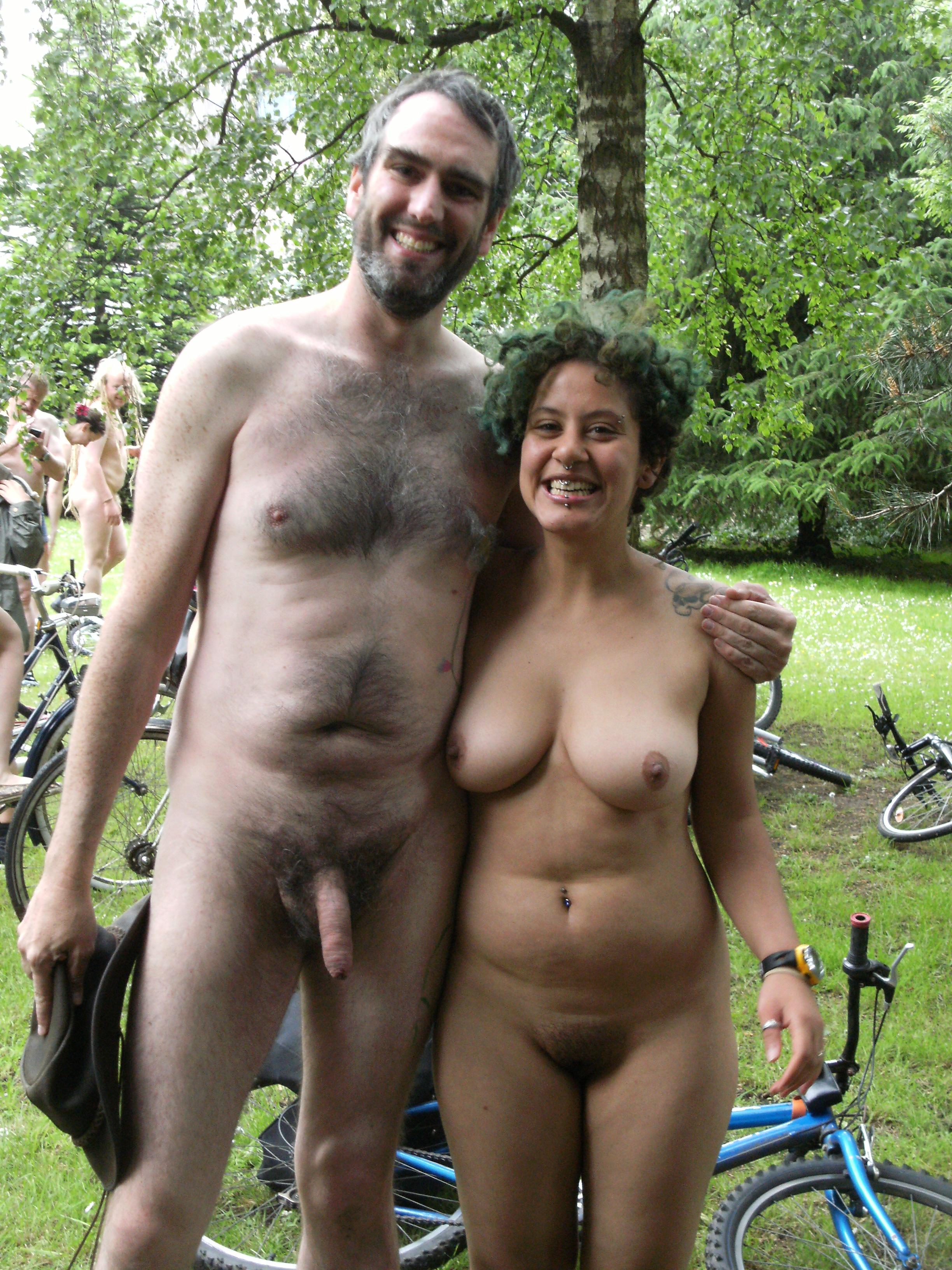 Naked bike ride women