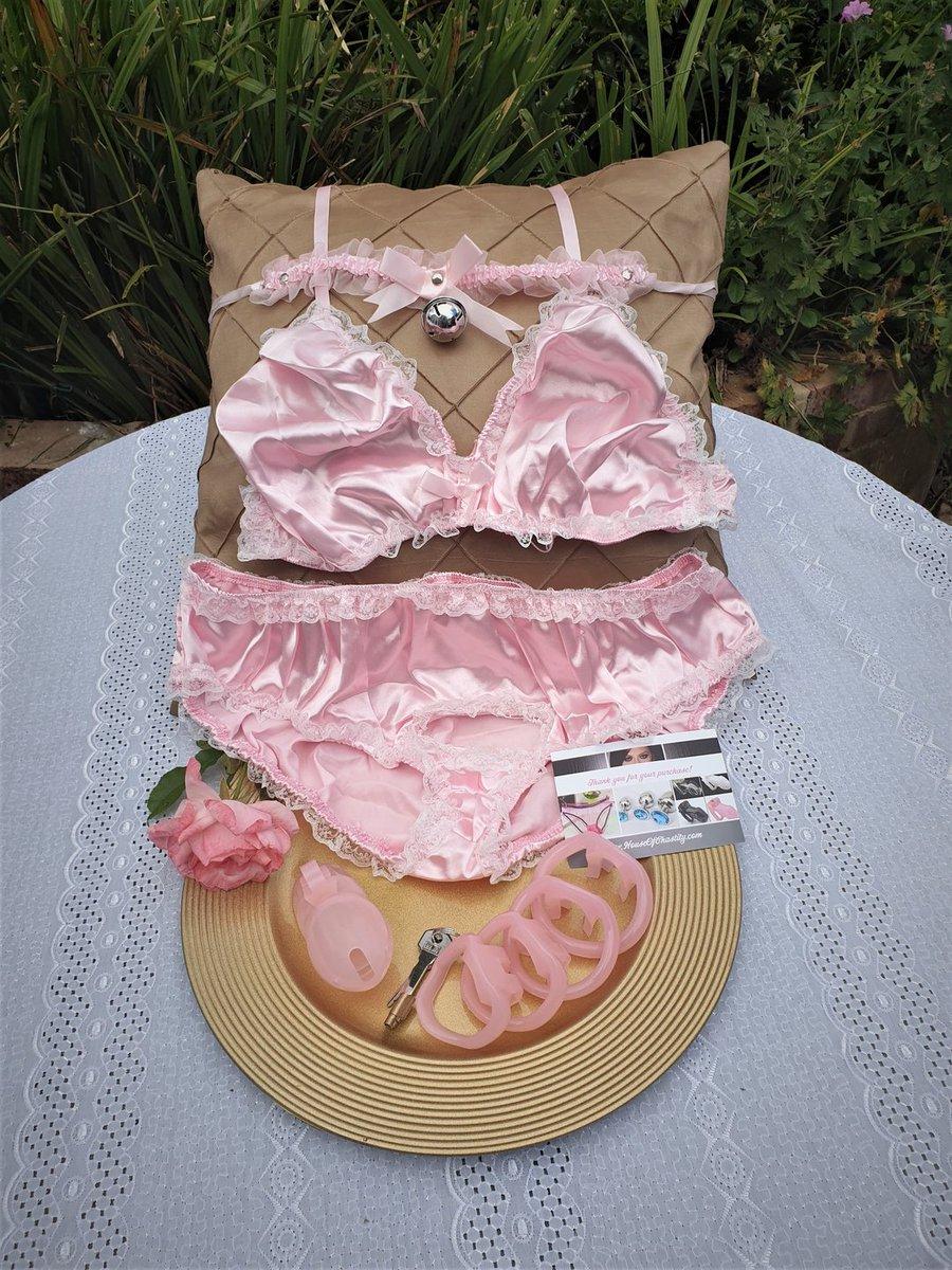 Sissy maid panties satin