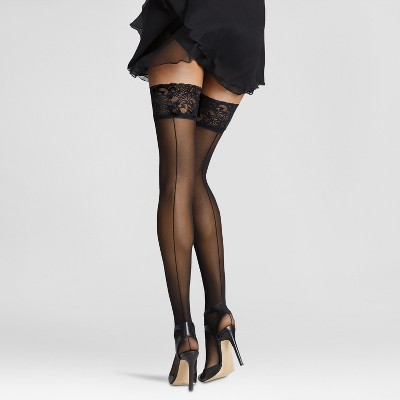Thigh stockings black high
