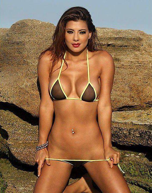 Bikini tug a war