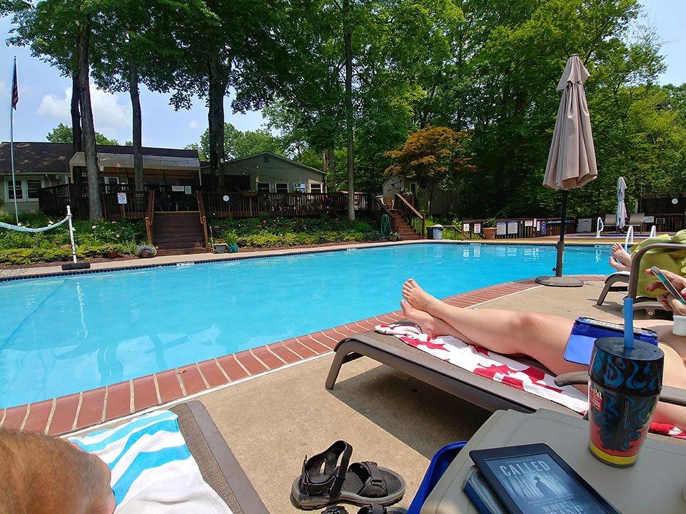 Pure family nudists pools