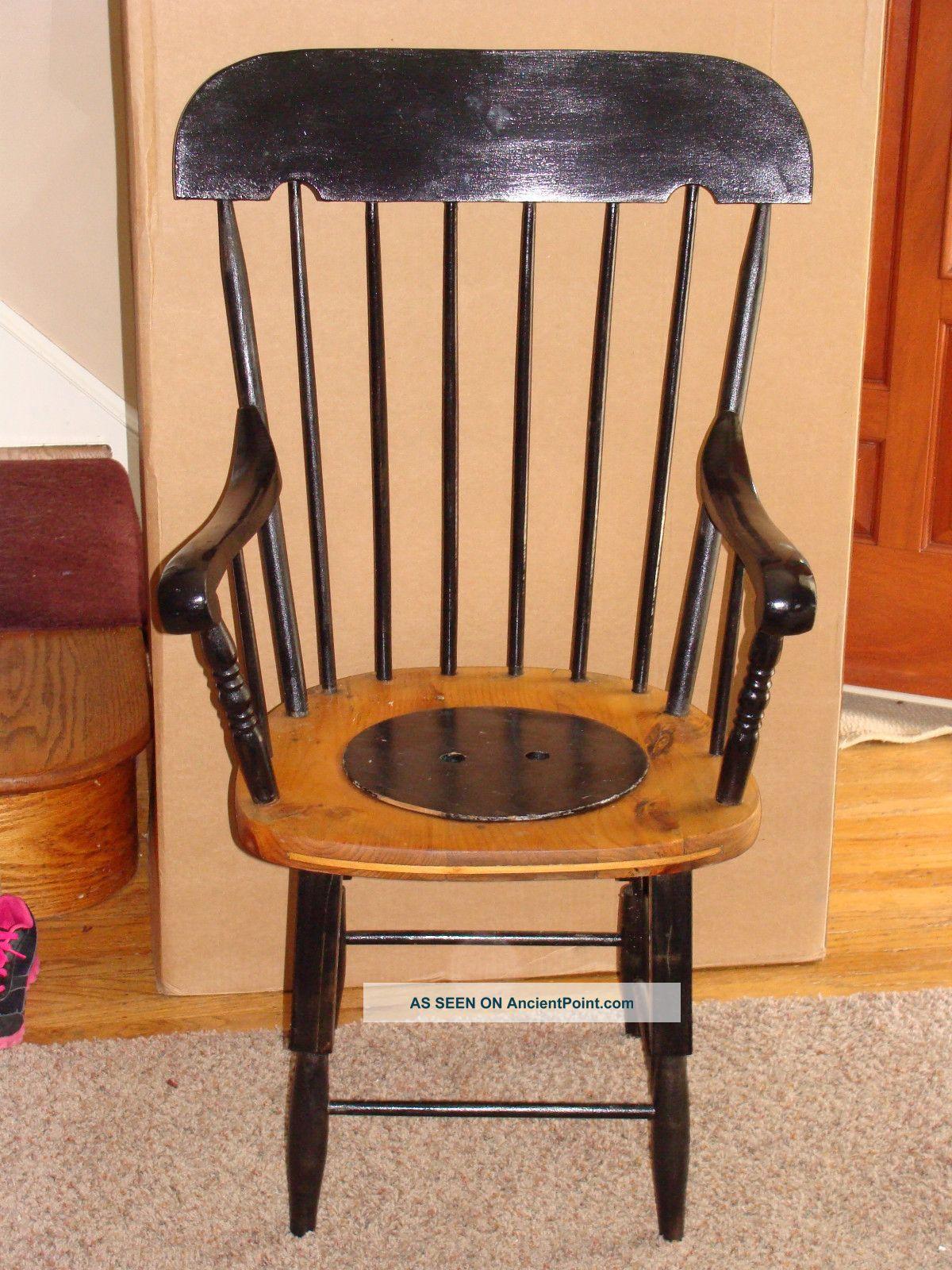 Antique adult potty chair