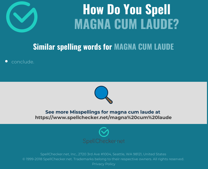 Another word for magna cum laude