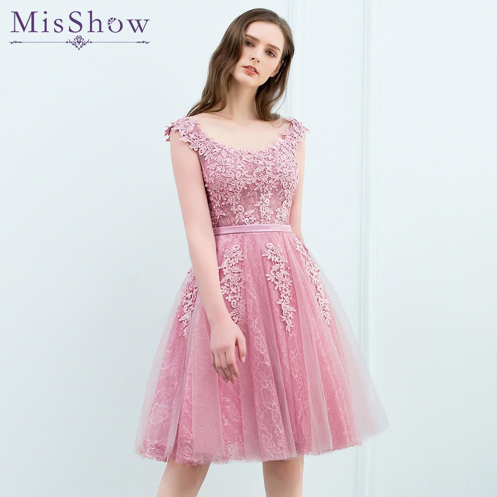 Sexy light pink short prom dresses
