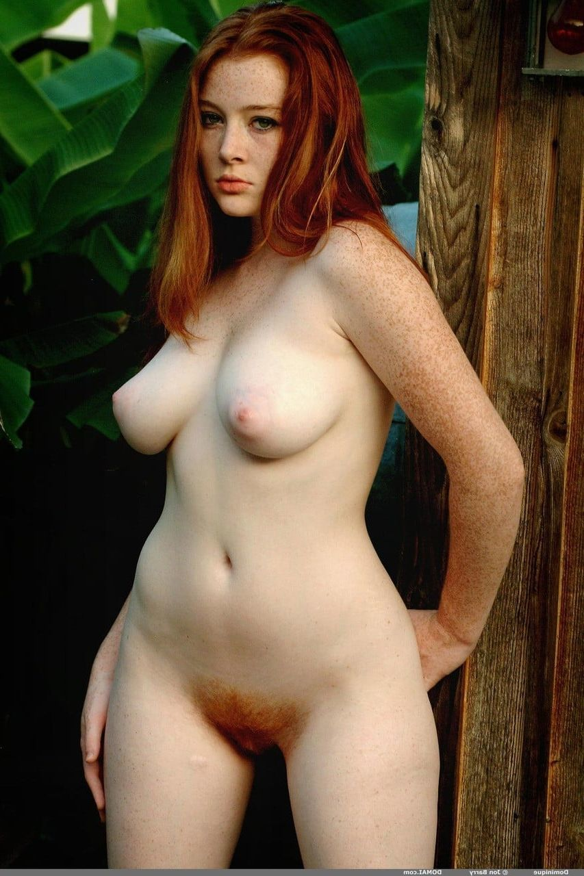 Nude redhead with freckles