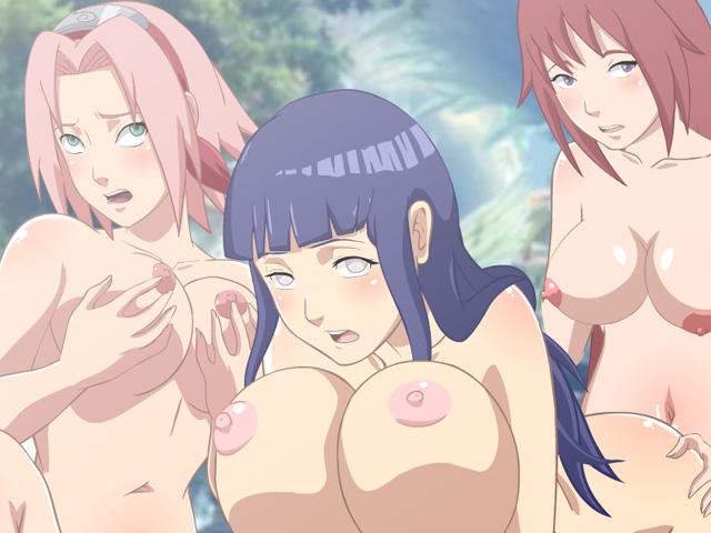 Naruto sakura and hinata yuri hentai