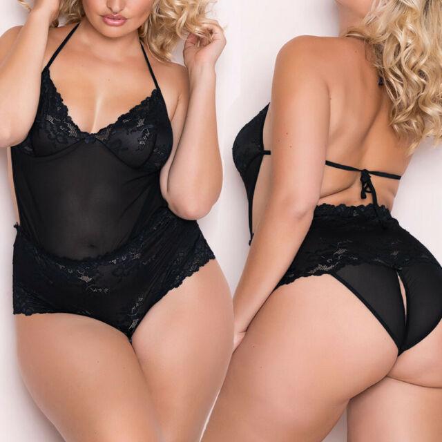 Through plus size see thru lingerie