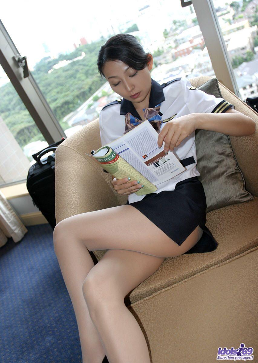 Nude asian flight attendant sex