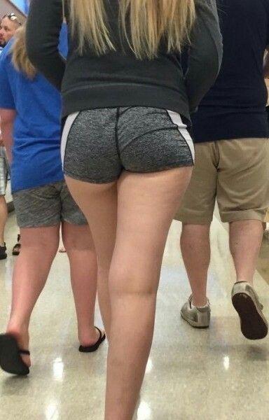 Sexy ass spandex shorts