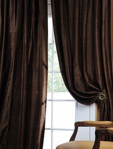 Rodeo home curtains brown quilted bottom