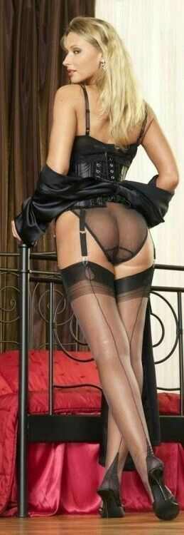 Gorgeous women wearing stockings and lingerie