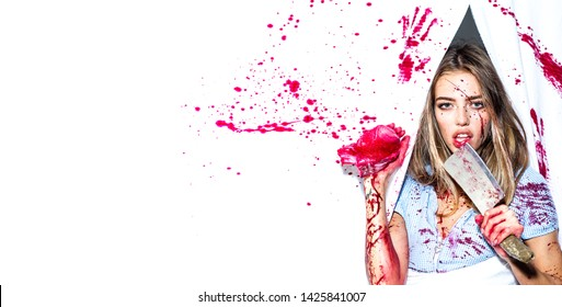 In sexy girl blood covered