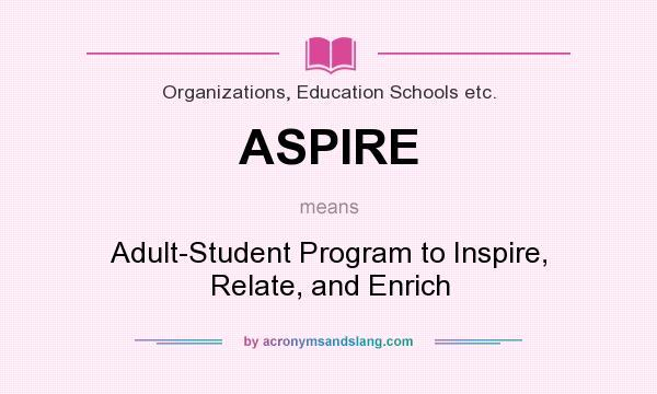 Adult enrich inspire program relate student