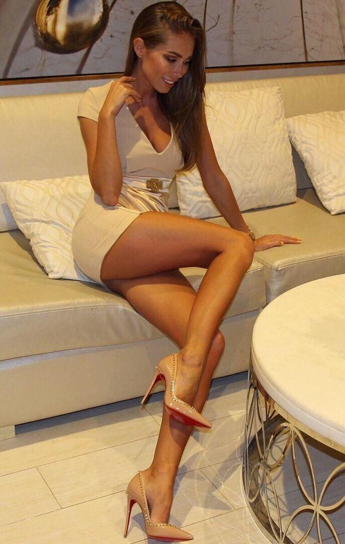 Girl naked in high heels