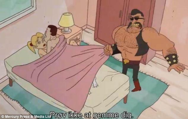 Porn cartoon comic man he nude