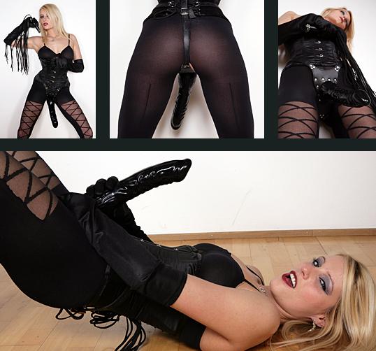 Natalie black strapon queen