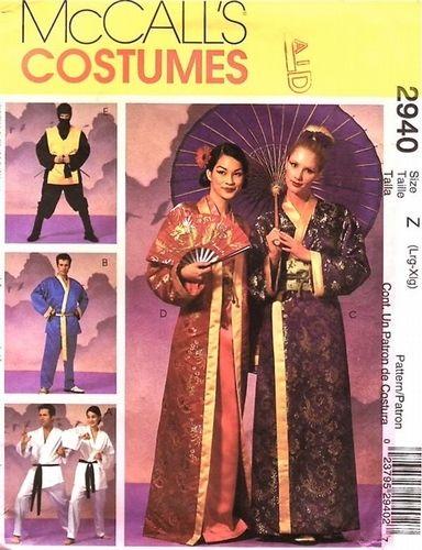 Adult costume ninja pattern