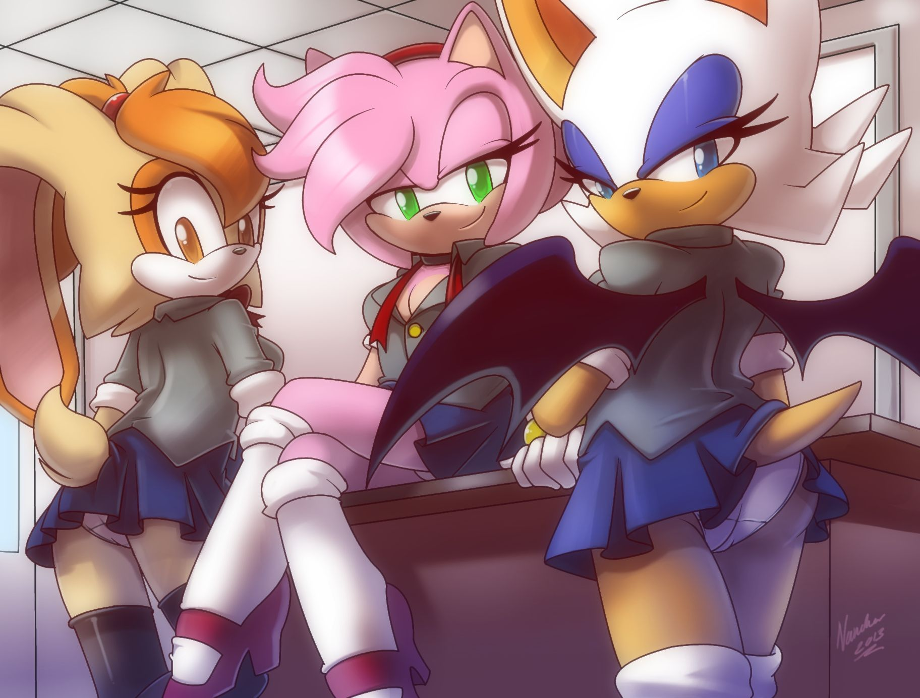 Sonic amy and cream naked comic