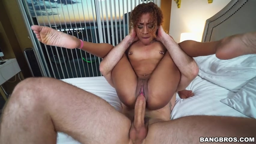 Huge white dick in black pussy