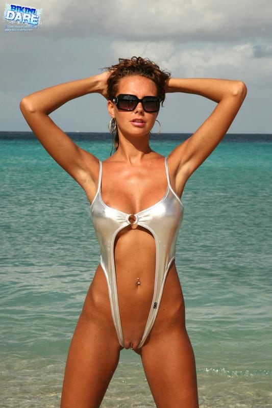Slingshot micro bikini contest nude