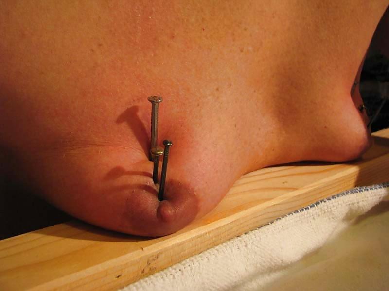 Nail tit torture porn