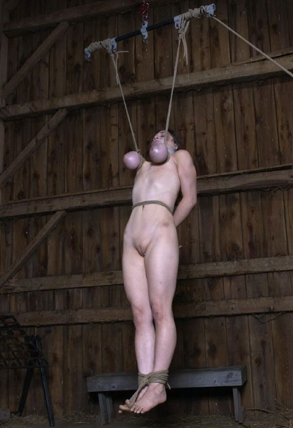 Bdsm tit suspension amateur