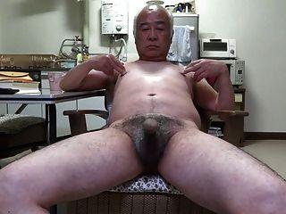 Old man touching boys penis