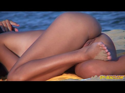 Nude beach shaved pussy