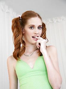Layla redhead cum facial