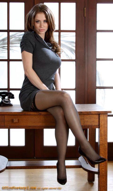 Legs and stockings secretary