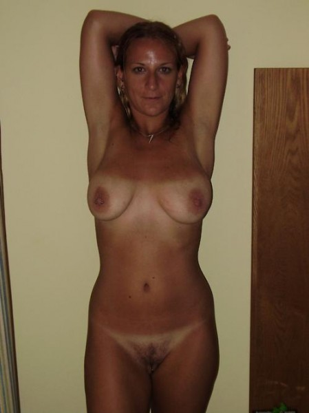 Mature milf with tan lines nude