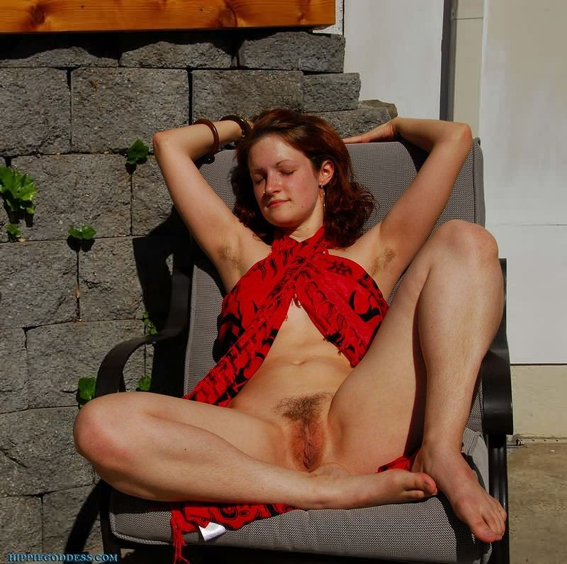 Nudist hairy women sunbathing
