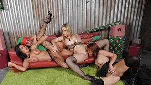 Slut sucking dick and balls