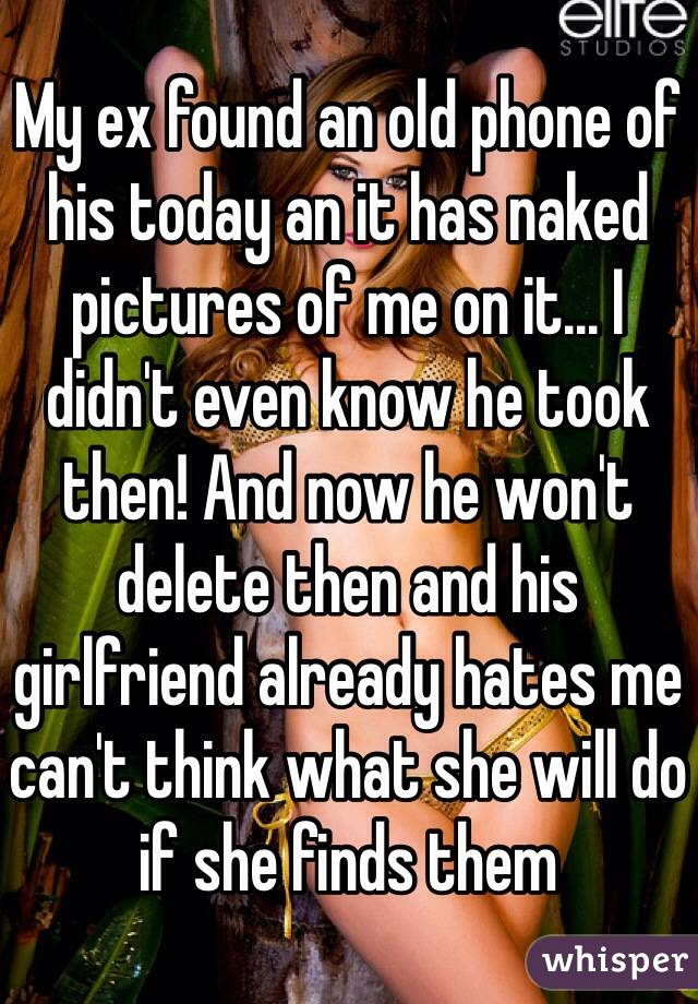 Delete naked pictures ex