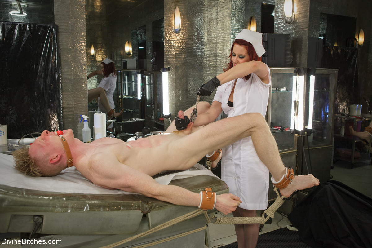 Cruel rough bdsm nurse needle phobia