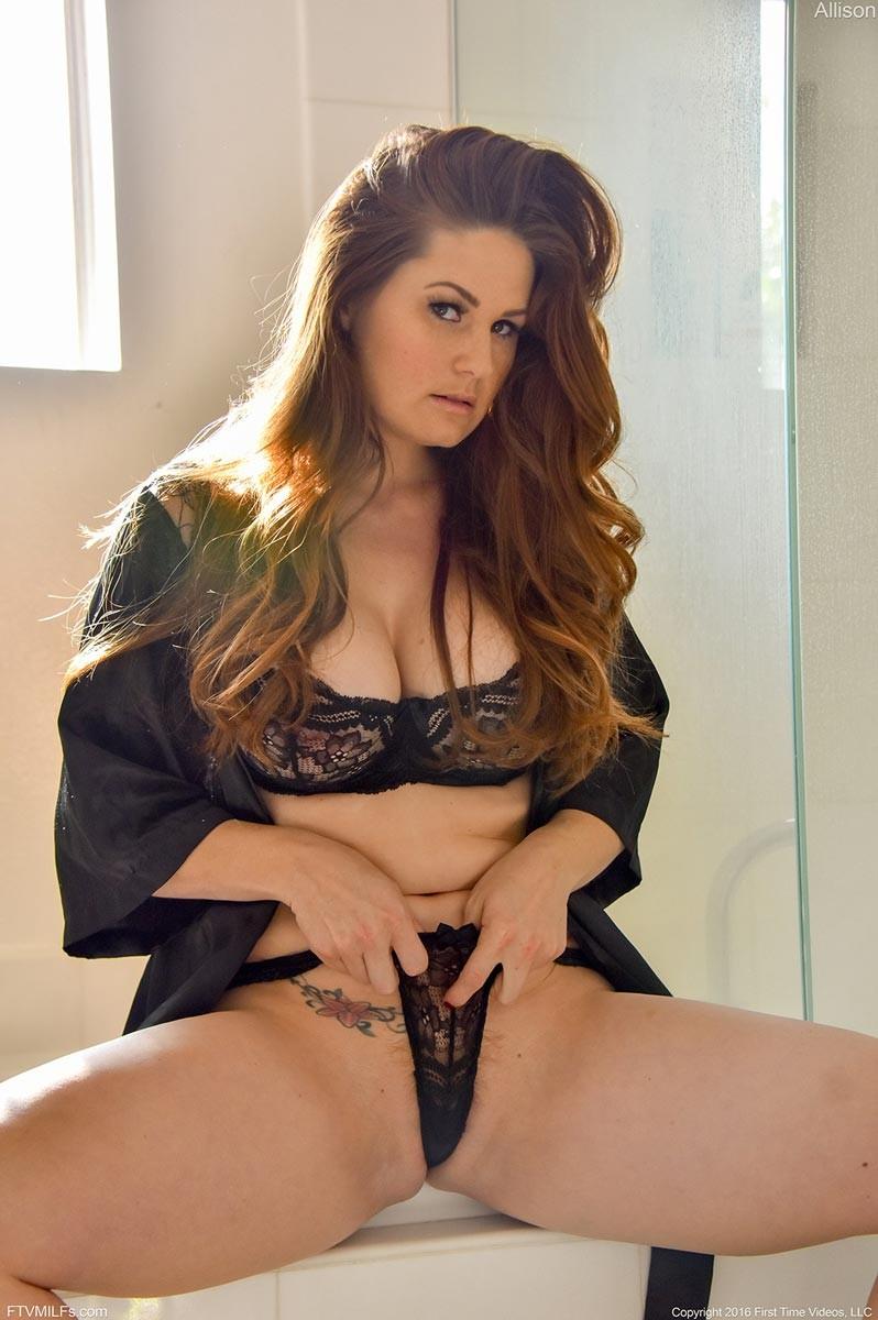 Hot milf in lingerie