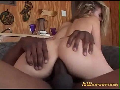 Blonde loves black anal