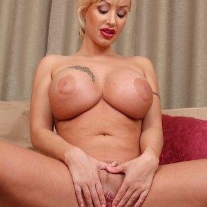 Blonde perfect natural tits